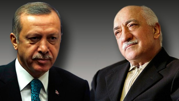 "Mr Erdogan has vowed to battle ""a state within a state"", a reference thought to refer to Mr Gulen's followers"