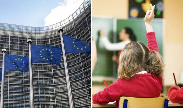 EU integration is being pushed to schoolchildren, warned a British historian